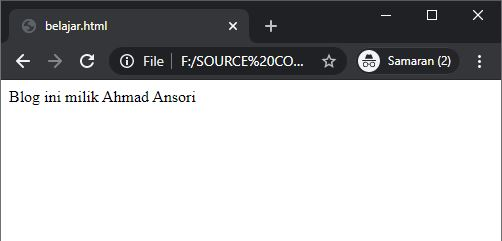 Contoh-Contoh HTML