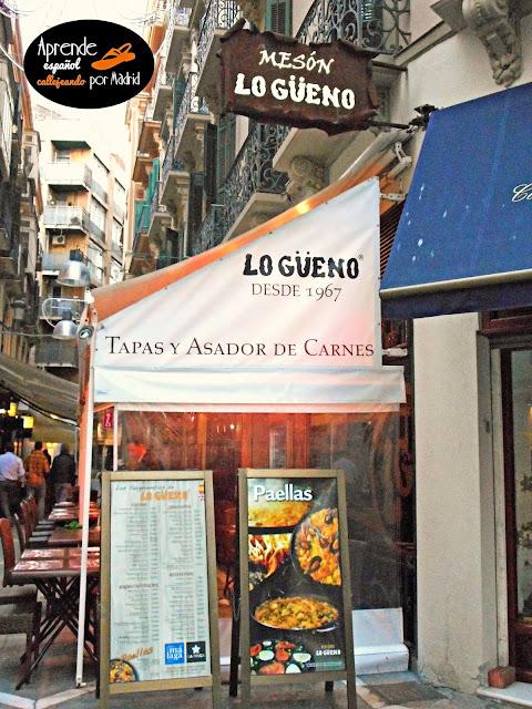 Aprende español callejeando por Madrid: Mi arma