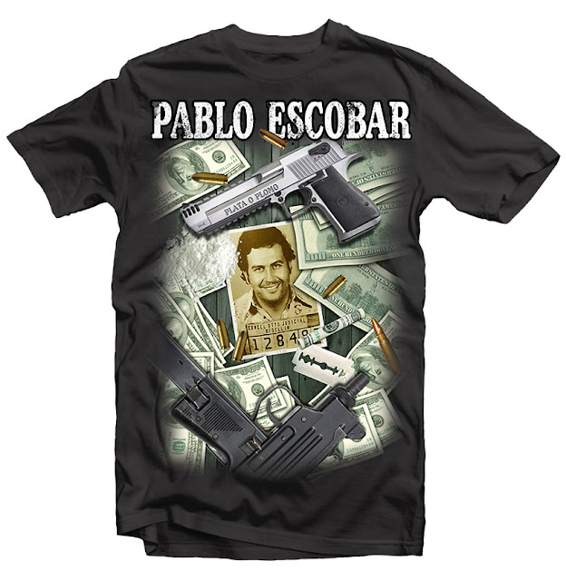 pablo escobar t-shirt design