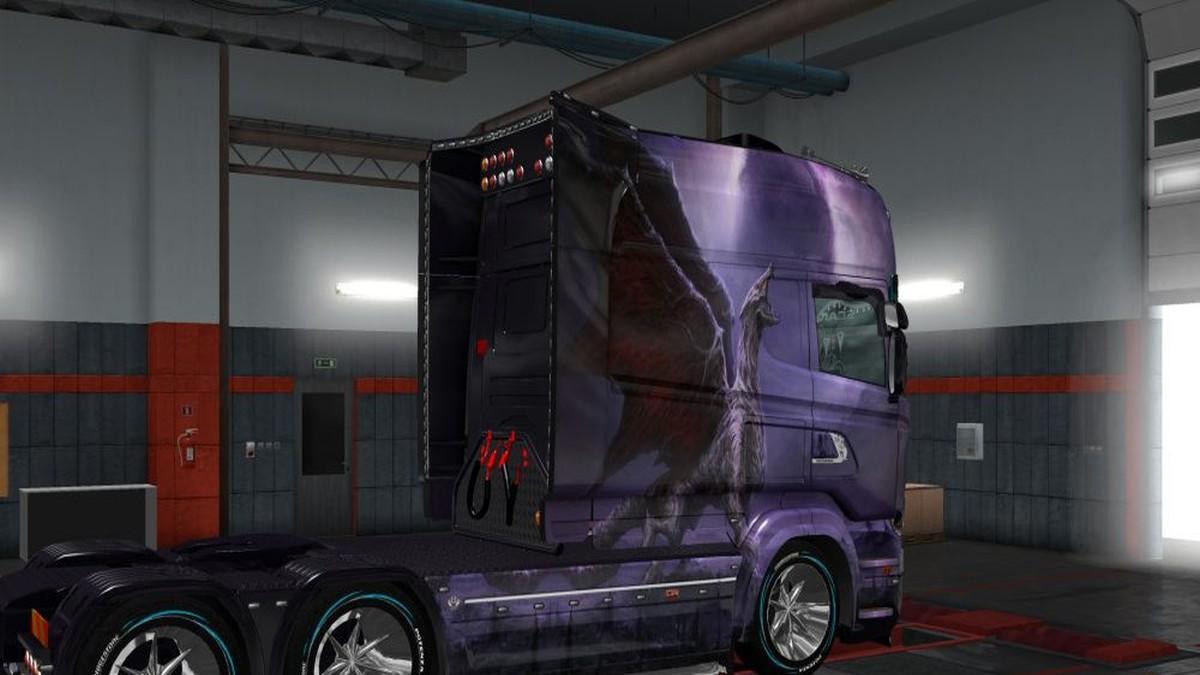 Scania RJL Ancient Dragon v2 Skin