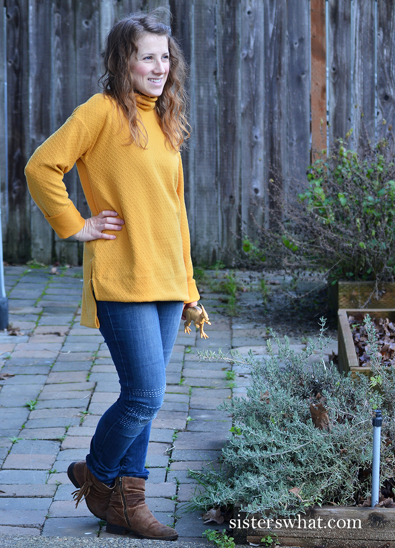 easy DIY yellow sweater for beginner sewing pattern