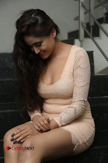 Telugu Actress Model Sony Charishta Stills in Short Dress at Rapture 2017 Grand Logo Launch  0154.JPG