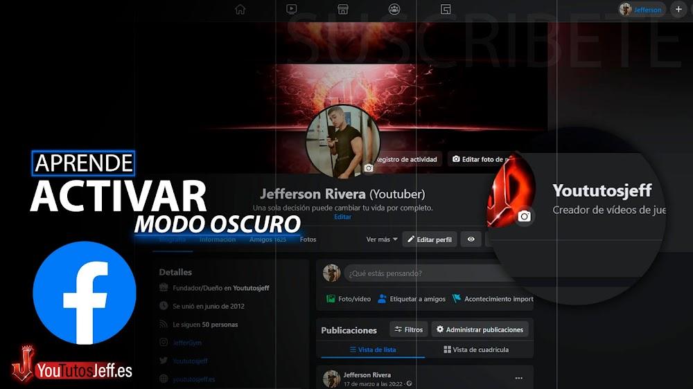 Como Activar MODO OSCURO en Facebook Oficial