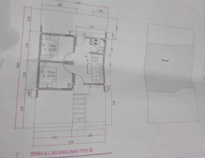 Denah Ruangan Rumah Minimalis Type 30