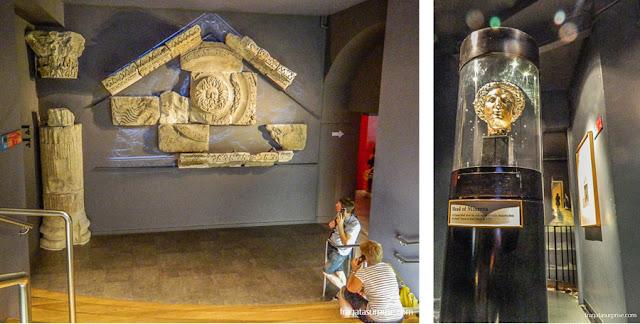 Vestígios do Templo da deusa celta Sulis e do culto a Minerva nas Termas Romanas de Bath