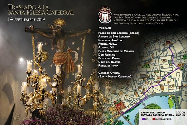 Horario e Itinerario de Las Animas de Córdoba para el traslado de ida de la Magna Exposición