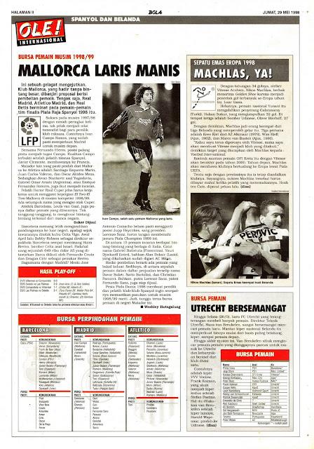 LA LIGA SPANYOL LFP BURSA PEMAIN MUSIM 1998/99 REAL MALLORCA