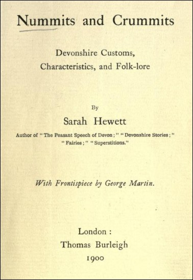 Nummits and Crummits : Devonshire Customs, Characteristics, and Folk-lore