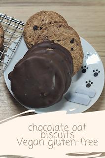 cookies vegan gluten-free oat chocolate