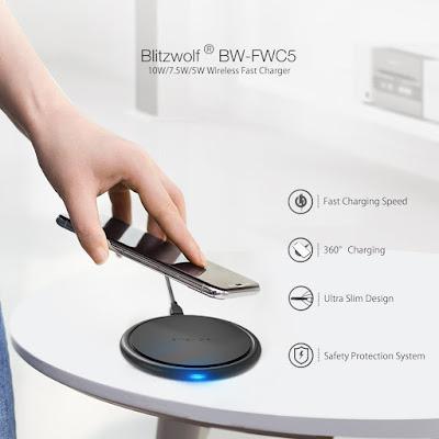 BlitzWolf® BW-FWC5 10W 7.5W 5W Fast Wireless