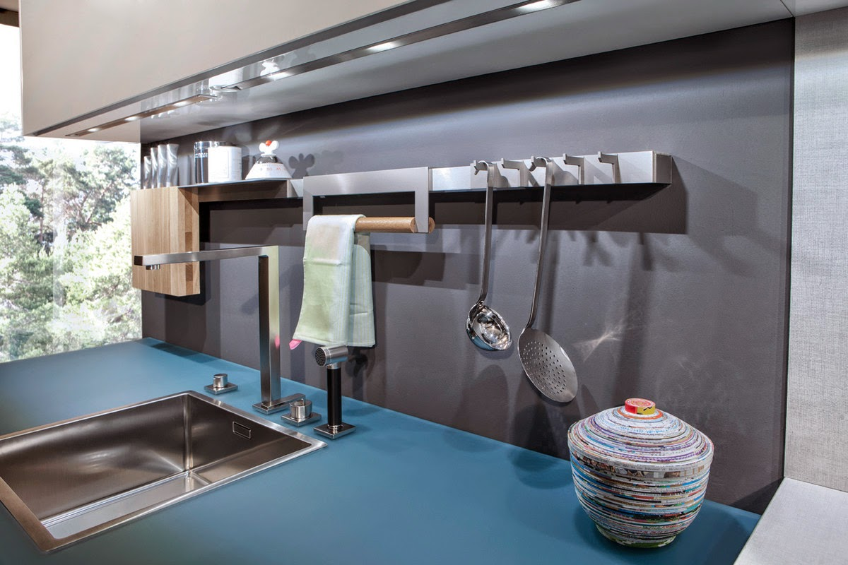 Accesorios de cocina para la pared para tener todo a mano - Paredes para cocinas ...