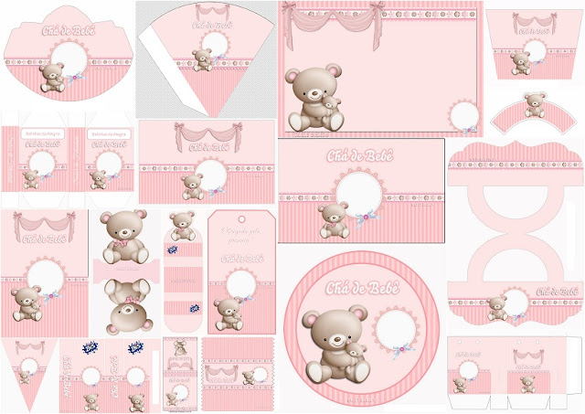 Mommy Bear with Baby: Free Printable Kit.