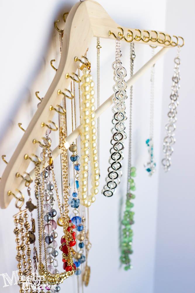 Diy Hook Hanger For Jewelry Organization Muslin And Merlot
