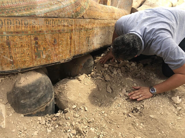 Cache of sealed coffins discovered in necropolis on Luxor's West Bank