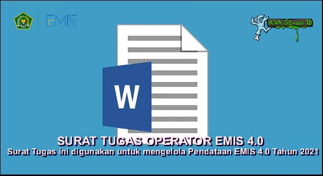 [Docx] Format Surat Tugas Operator Emis 4.0 Tahun 2021