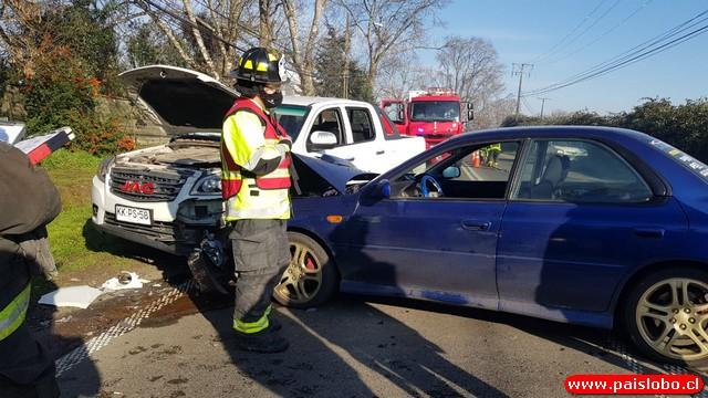 Accidente vehicular sector Pilauco