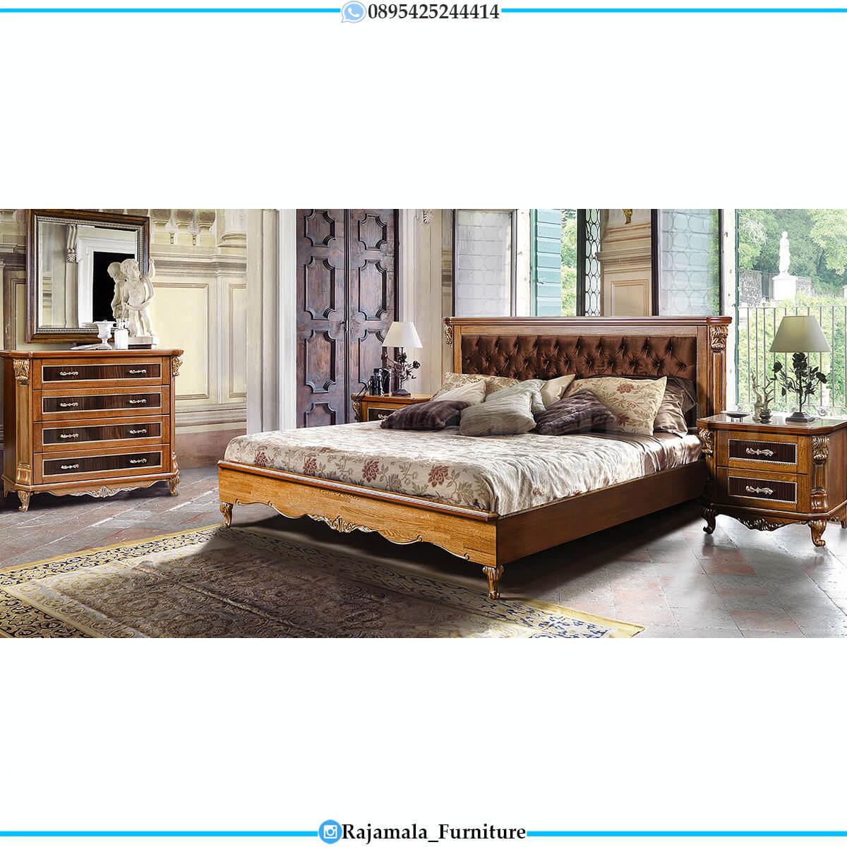 Jual Tempat Tidur Mewah Jati Natural Salak Brown Color RM-0698