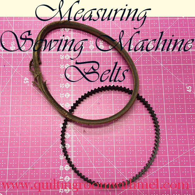 measuring sewing machine belts