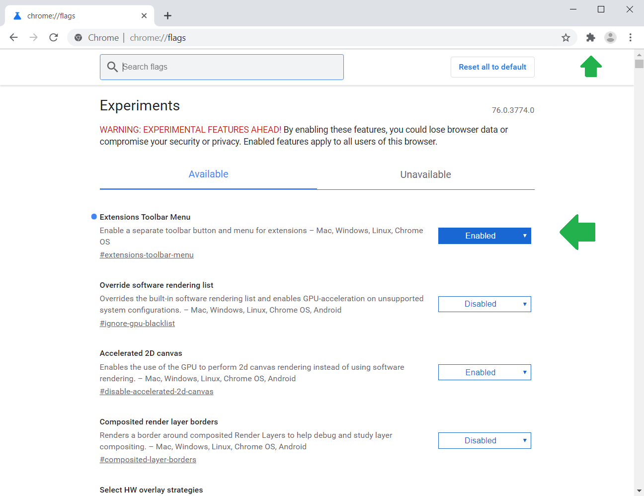 Google Chrome is experimenting with a New Extension Menu