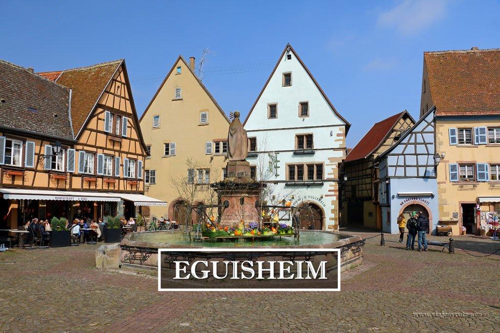 Eguisheim, un oasis rodeado de viñedos en Alsacia