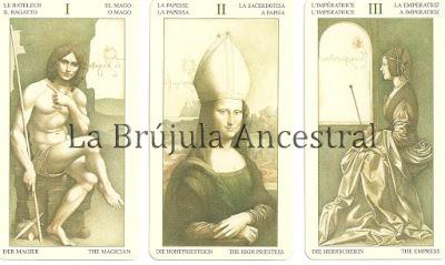 Mago, Sacerdotisa y Emperatriz del mazo de Tarot Leonardo Da Vinci