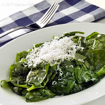 Spinach Salad with Parmesan