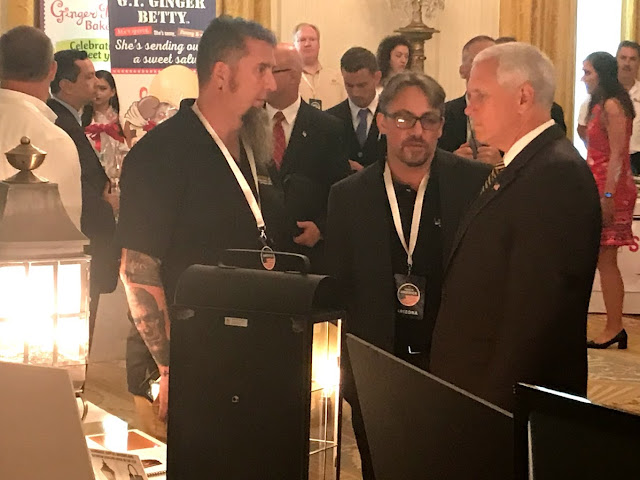 Vice President Mike Pence with Lanternland Lighting at the White House