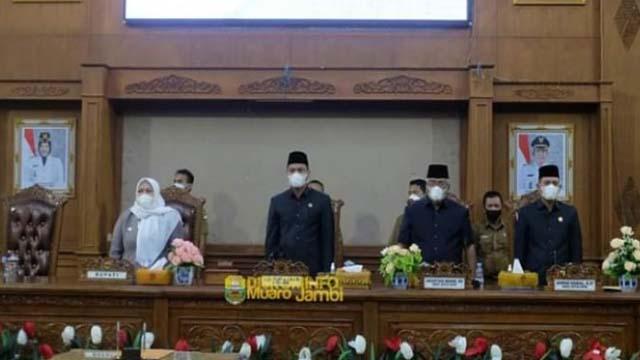 DPRD Muarojambi Gelar Paripurna Persetujuan dan Penandatanganan Kesepakatan Perda Perubahan Kabupaten Muarojambi TA 2021