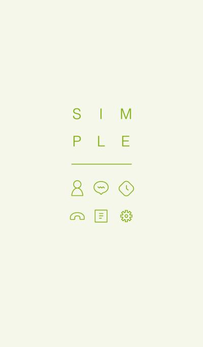 SIMPLE / light green.