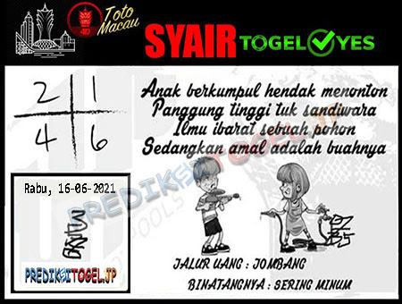 Syair Togel Yes Macau Rabu