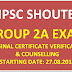 TNPSC GROUP 2A EXAM ORIGINAL CERTIFICATE VERIFICATION & COUNSELLING
