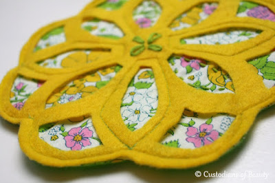 Yellow Vintage Trivet | DIY Coasters by CustodiansofBeauty.blogspot.com