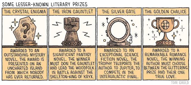 Kevésbé ismert irodalmi díjak