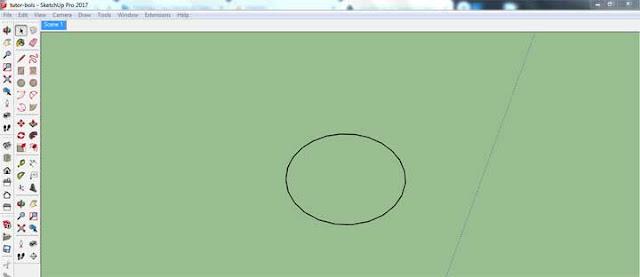 bikin objek bola bulat di sketchup