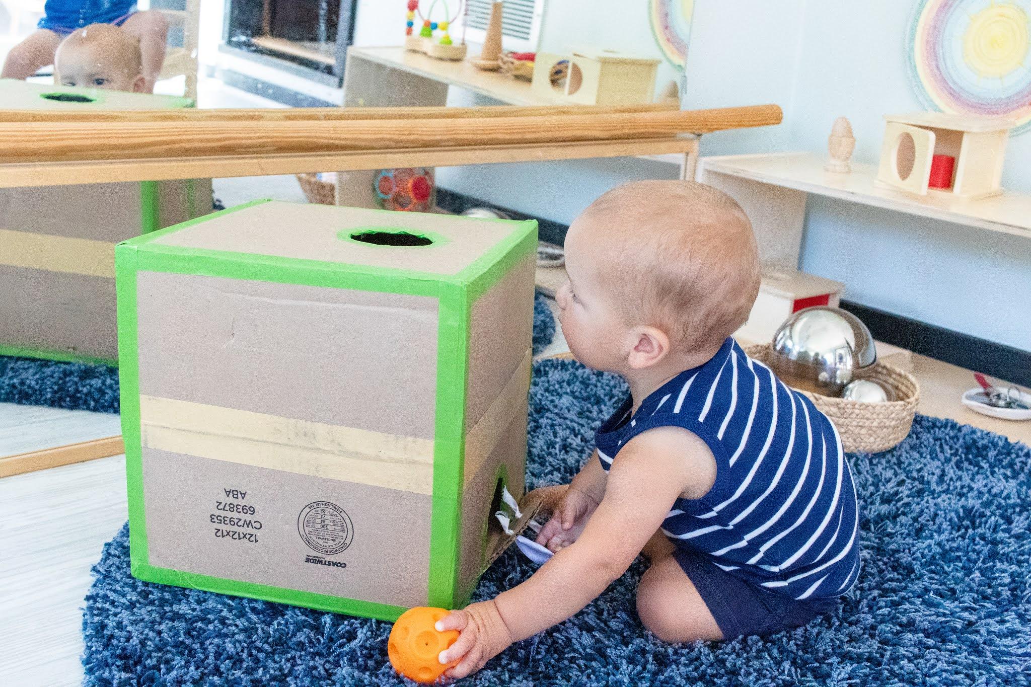 Object Permanence Box Montessori Family Educational Training Material DIY