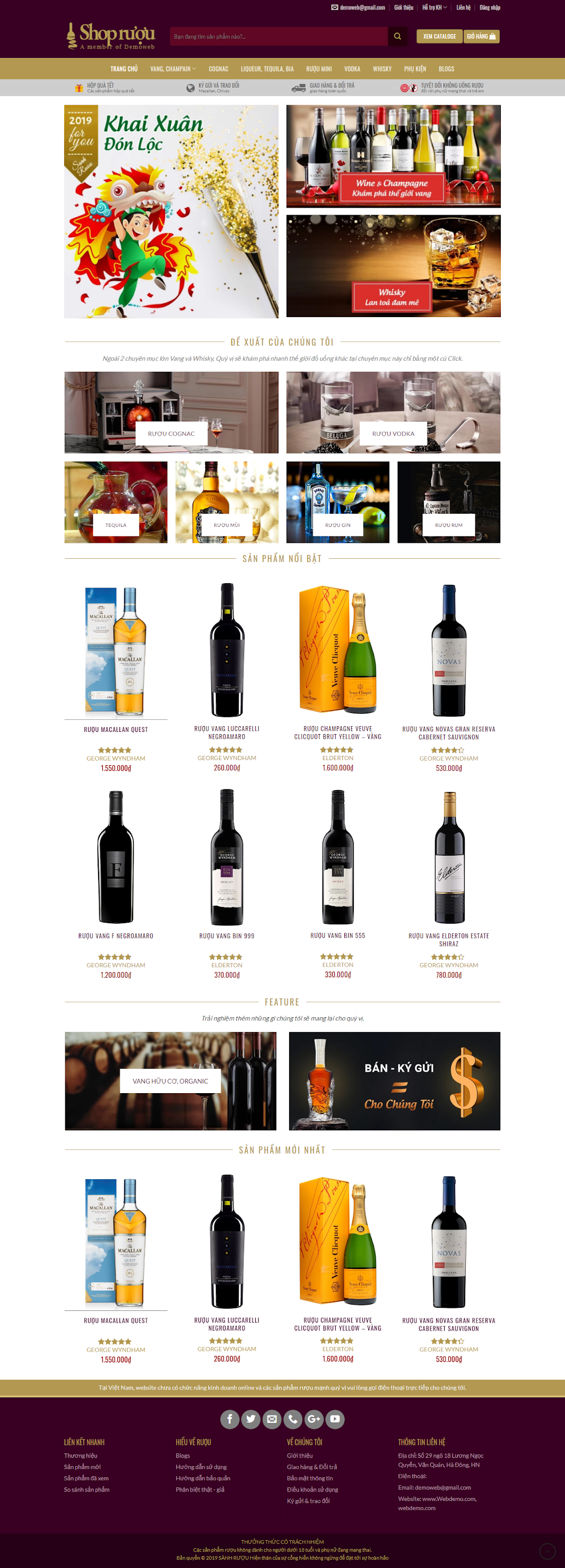 mẫu shop rượu