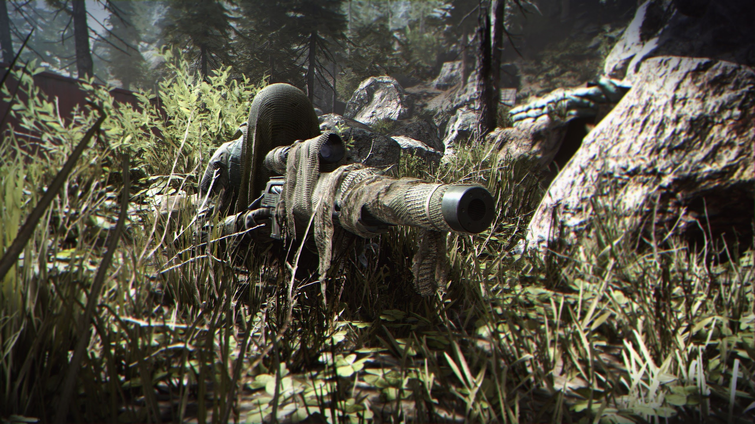 Call Of Duty Modern Warfare Sniper Camouflage Soldier 4k Wallpaper 11