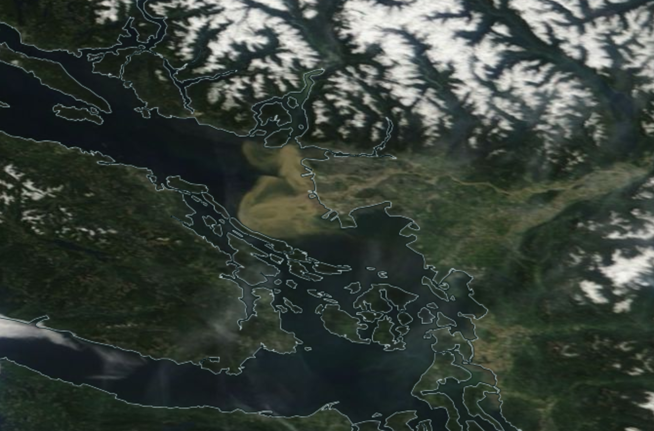 Cliff Mass Weather and Climate Blog: The Fraser River Plume