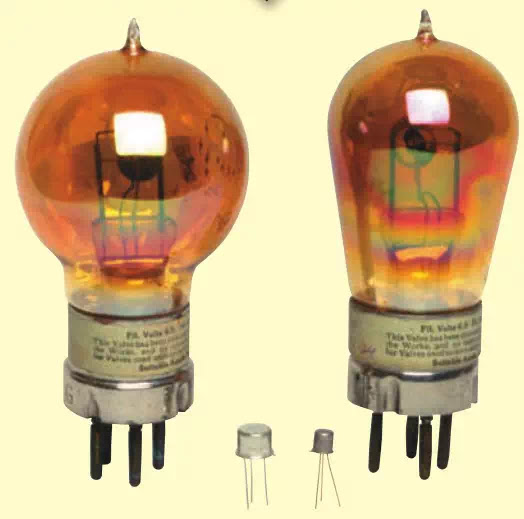 FIGURE 2 The Vacuum Tube and the Transistor
