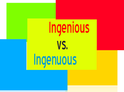 ingenious vs ingenuous, learn with mind tricks