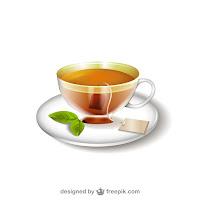Ilustración de la taza de té
