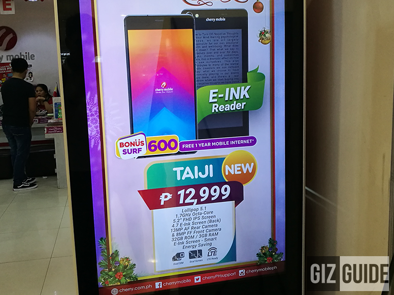 Cherry Mobile Taiji With E-Ink Reader Spotted, Priced At PHP 12999!