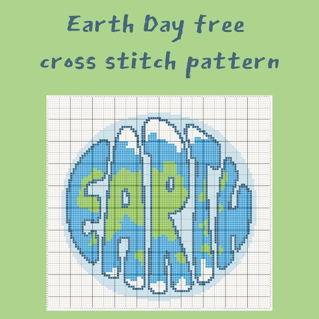 Earth Day free cross stitch pattern