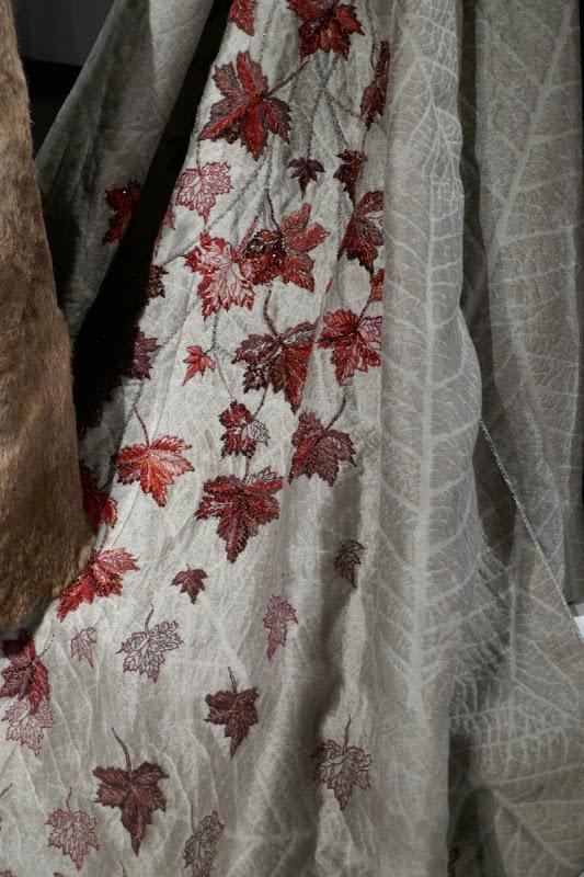 Sansa Game Thrones Queen North leaf costume detail