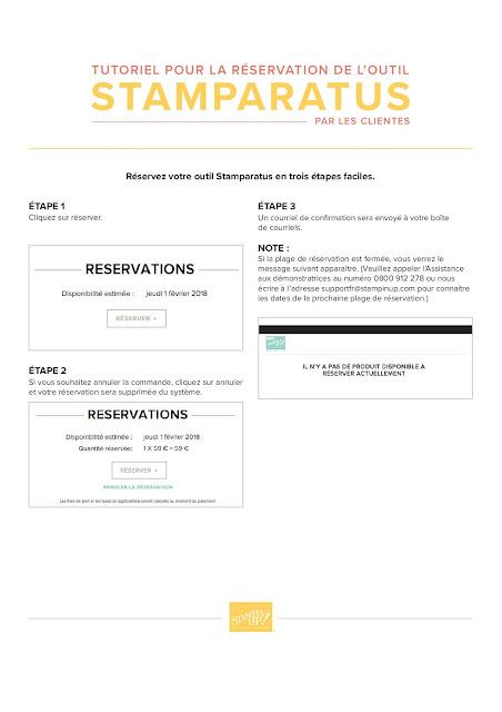 STAMPARATUS Tutoriel pour la réservation