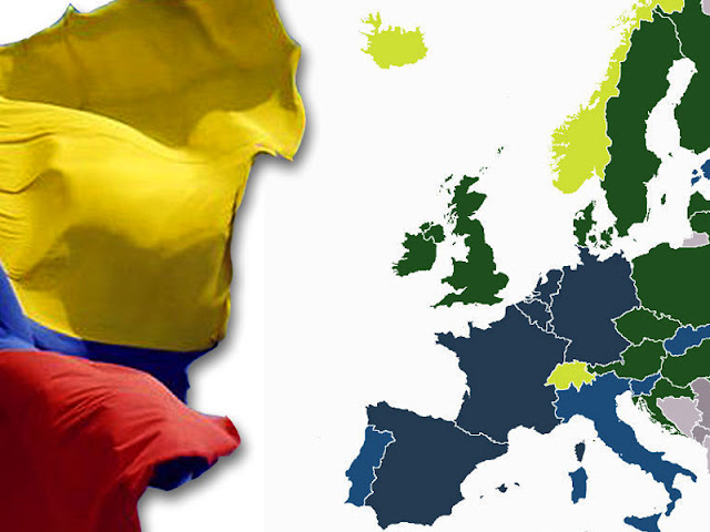 Entrar a Europa sin visa para colombianos