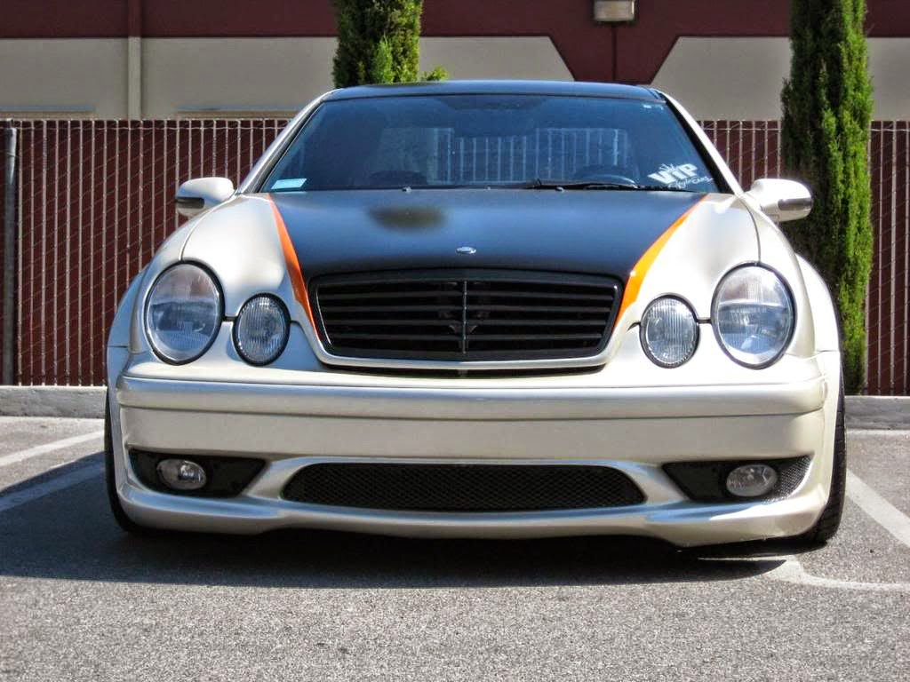 mercedes benz clk320 w208 widebody benztuning. Black Bedroom Furniture Sets. Home Design Ideas