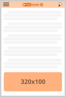 ukuran iklan adsense 320×100