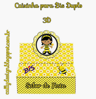 Etiquetas de  Niñas Abejitas para imprimir gratis.