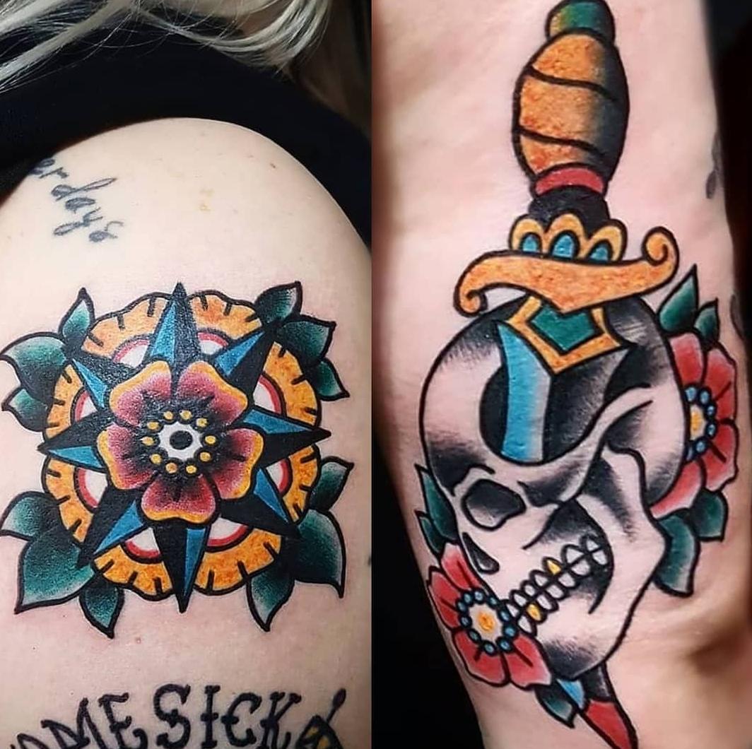 0134aeefe4af0 Algumas das tatuagens que ele fez em mim